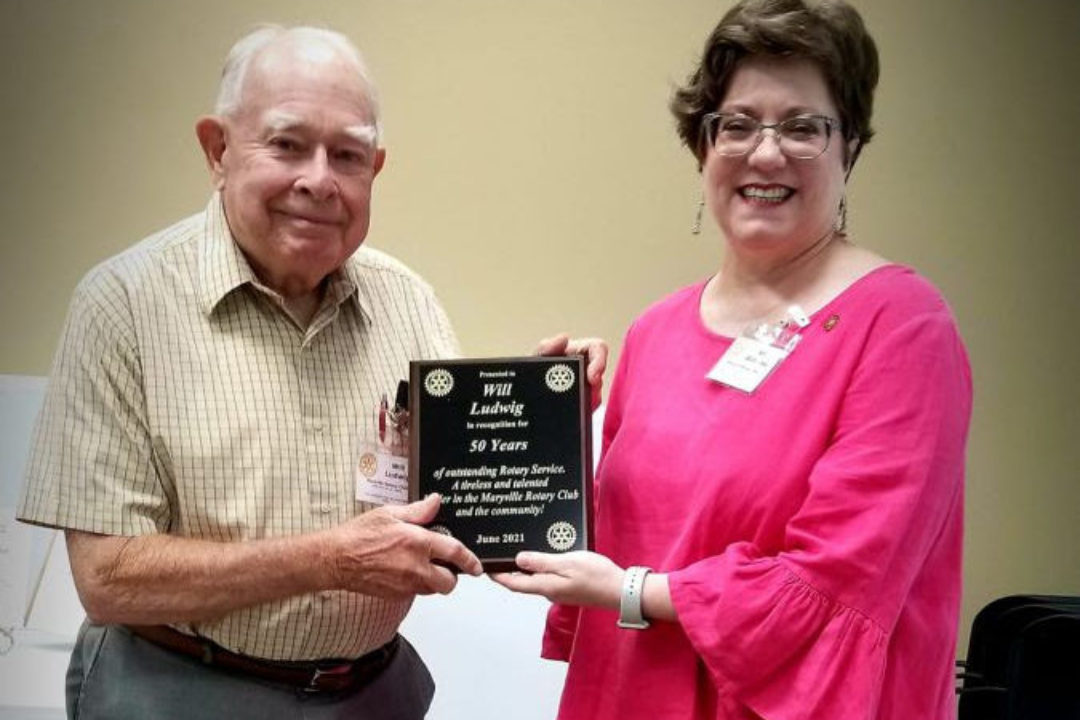 Congratulations to Will Ludwig on 50 Years of Service in Rotary!